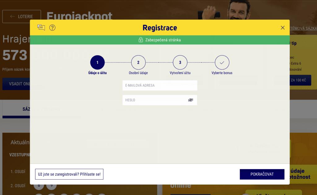 Eurojackpot registrace