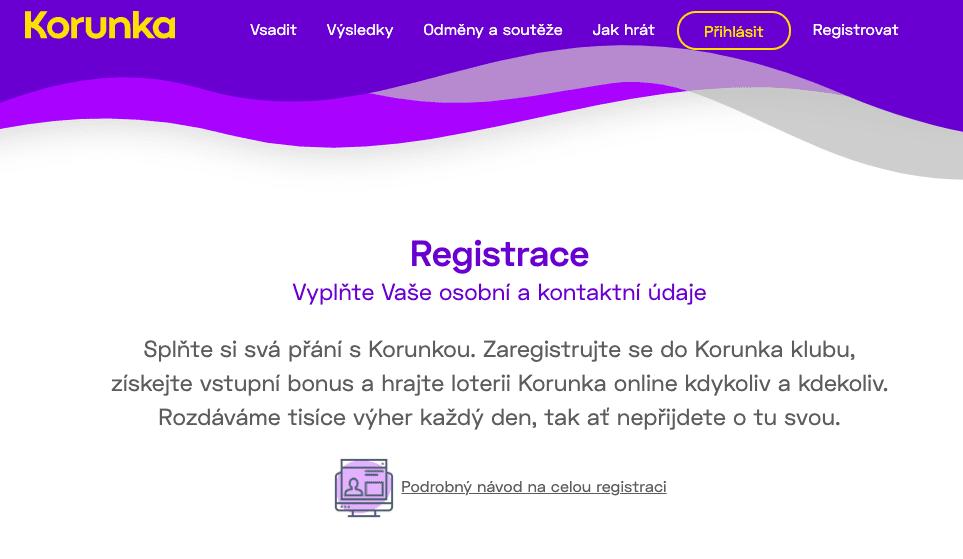 Korunka registrace