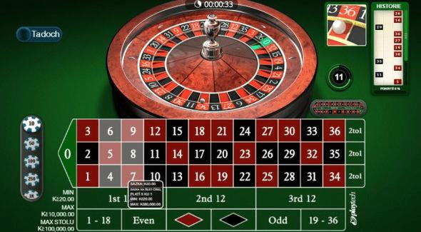 Tipsport Vegas Ruleta
